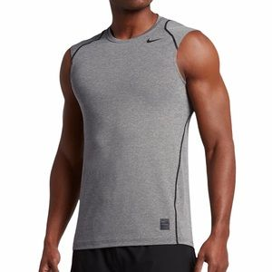 Nike Pro dry fit fitted grey tank top size medium